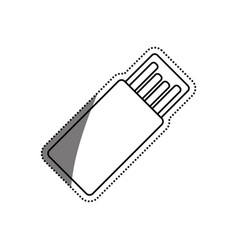 Usb hard drive pen vector