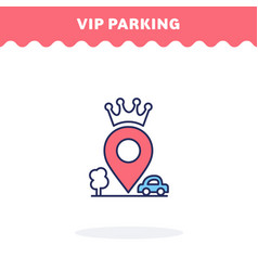vip parking icon flat design ui icon vector image