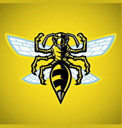 wasp hornet mascot vector image