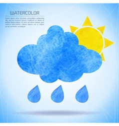 Watercolor background with nature and weather vector image