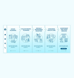 Wealth counselling services onboarding template vector