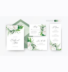 wedding invite invitation rsvp save date set cards vector image
