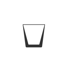 whiskey glass icon flat vector image
