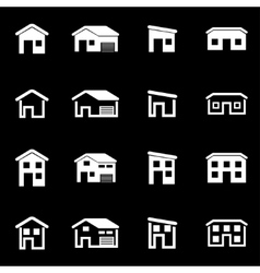 White house icon set vector