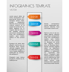 white infographic timeline vector image