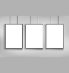 white poster template vector image