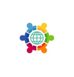 world share logo vector image