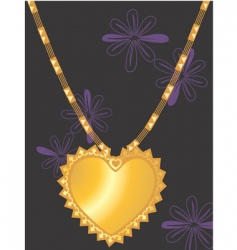 golden necklace vector image vector image