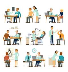 medical examination collection vector image vector image