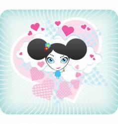 pop girl vector image vector image