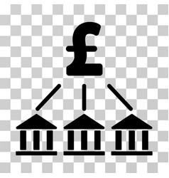 pound bank association icon vector image