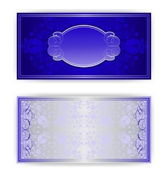 royal invitation card with frame vector image