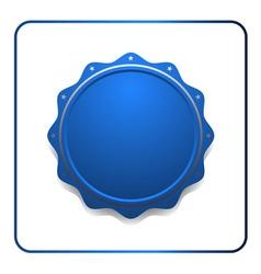 Seal award blue icon vector image