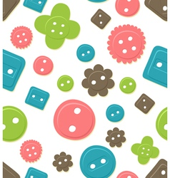 seamless button pattern vector image vector image