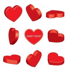 sweet heart perspective vector image vector image