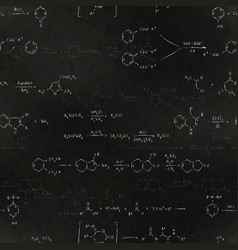 basic chemical reaction equations and formulas vector image vector image