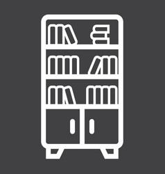 bookshelf line icon furniture and interior vector image