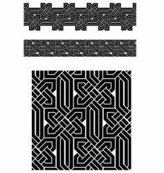 celtic knots vector image vector image