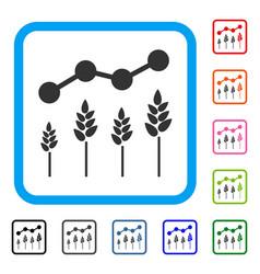Crop analytics framed icon vector