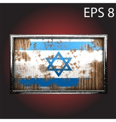 Flag on old wood vector