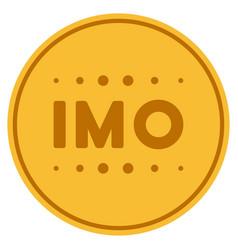 Imo caption gold coin vector