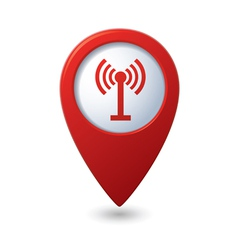 Map pointer with wireless icon vector image vector image