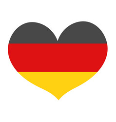 Flag of germany in a heart shape icon flat style vector