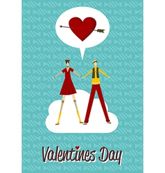 In Love couple Valentines day vector image