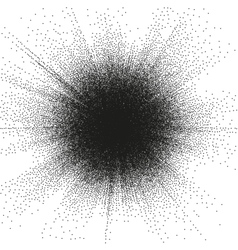 Sunburst Circle Shape Stippling Design EPS 10 vector image