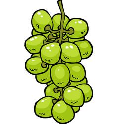cartoon doodle grapes vector image vector image