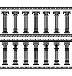 colonnade stencil vector image vector image