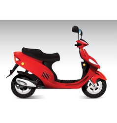 cool red scooter vector image vector image