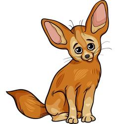 fennec fox animal cartoon vector image vector image