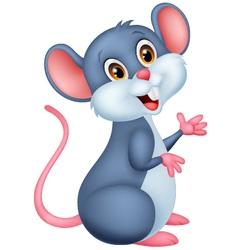 Happy mouse cartoon vector image