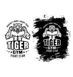 tiger gym ink vector image vector image