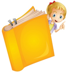 A girl and a book vector image vector image