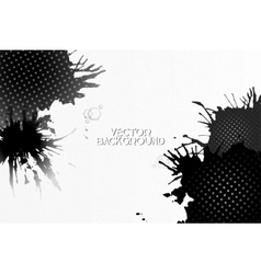 Abstract hand drawn spotted gray-black background vector image