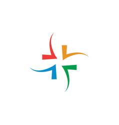 abstract healthcare cross logo design concept vector image