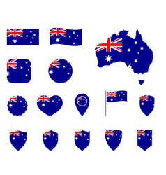 Australia flag icons set national flag of vector