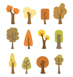 Autumnal trees vector image