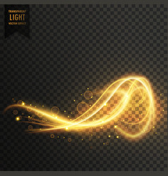 awesome abstract golden light transparent effect vector image