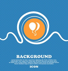 Balloon Icon sign Blue and white abstract vector image