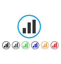 bar chart rounded icon vector image
