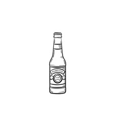 beer bottle hand drawn sketch icon vector image