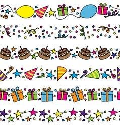 Birthday party borders vector