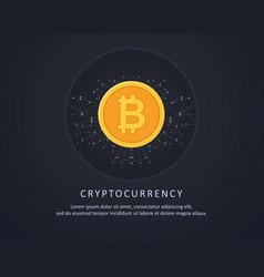 Black background for blockchain style vector