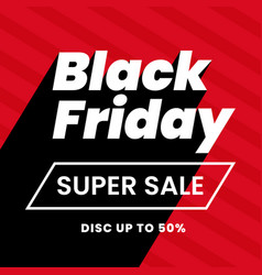 Black friday super sale modern typography text vector