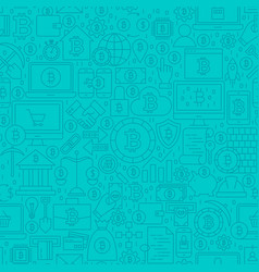 blue cryptocurrency line tile pattern vector image