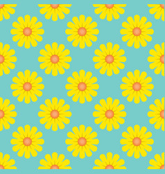 Bumblebee yellow sunflowers in a spring background vector