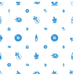 burn icons pattern seamless white background vector image
